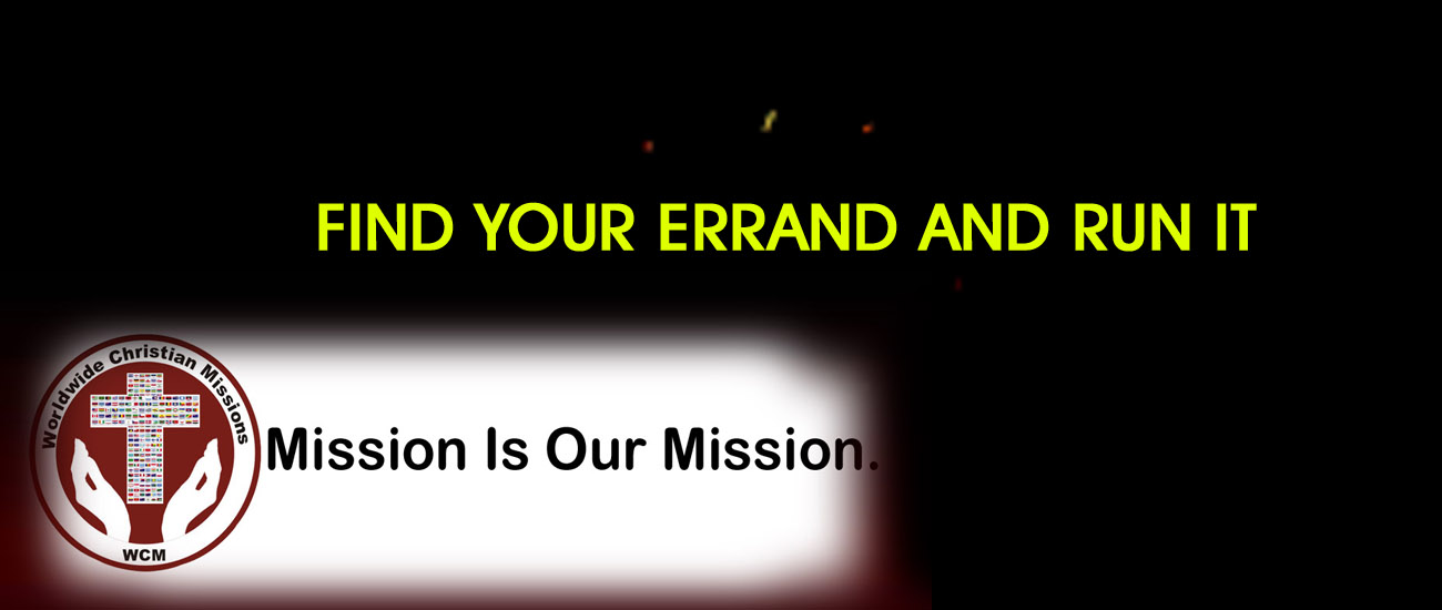 You are currently viewing FIND YOUR ERRAND AND RUN IT